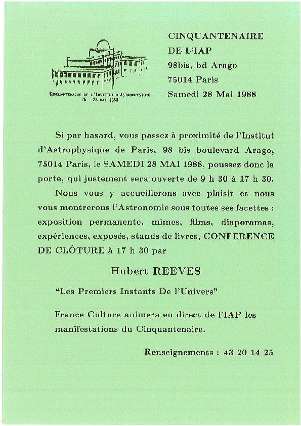 Journée portes ouvertes 28 mai 1988