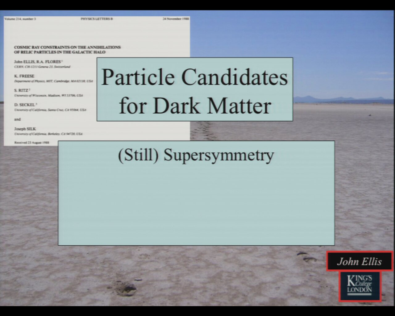 Particle Candidates for Dark Matter